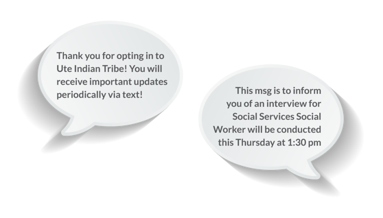 This message is to inform you of an interview for Social Services Social Worker will be conducted this Tursday at 1:30pm